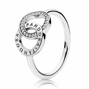 Pandora Entwined Circles Logo & Sparkle Ring